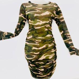 Dresses & Skirts - Sheer Camo Mini